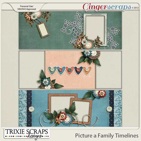 Picture a Family Timelines by Trixie Scraps Designs