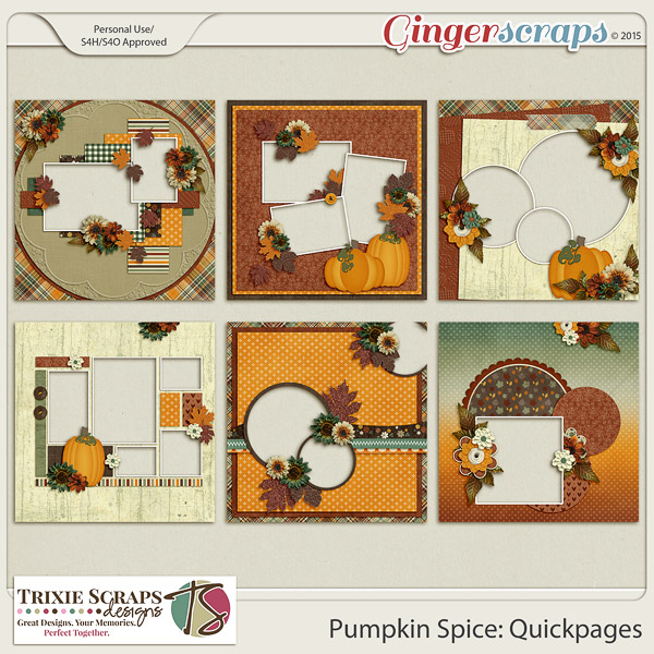 Pumpkin Spice Quickpages by Trixie Scraps Designs