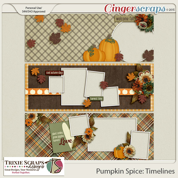 Pumpkin Spice Timelines by Trixie Scraps Designs