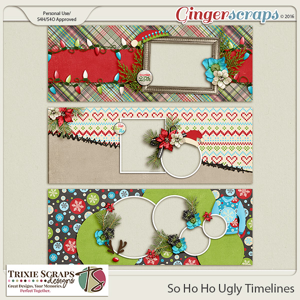 So Ho Ho Ugly Timelines by Trixie Scraps Designs