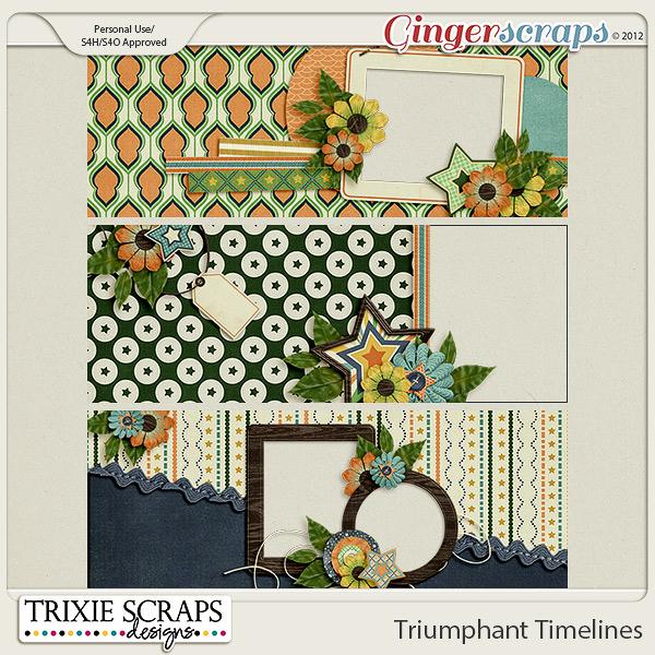 Triumphant Facebook Timelines by Trixie Scraps Designs