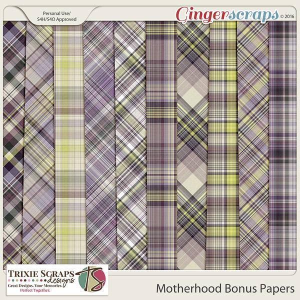 Motherhood Bonus Papers by Trixie Scraps Designs