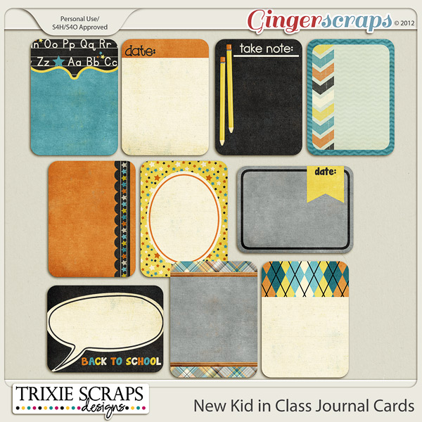 New Kid in Class Journal Cards by Trixie Scraps Designs