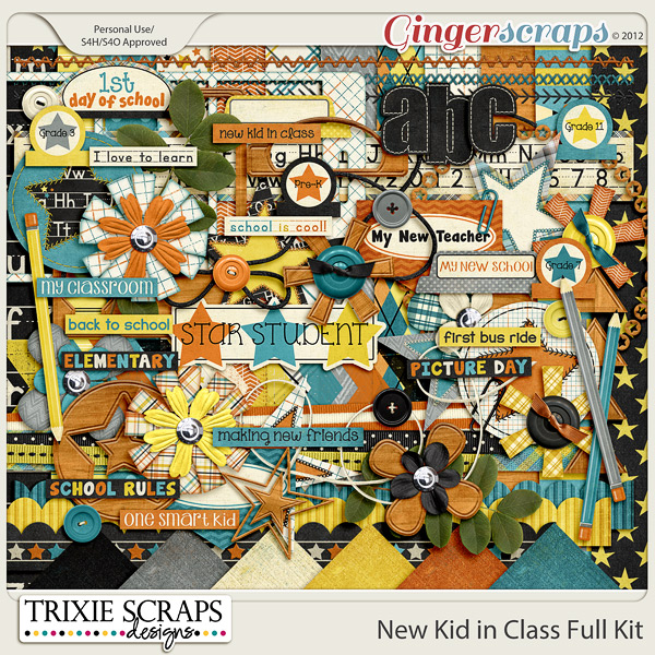 New Kid in Class Full Kit by Trixie Scraps Designs