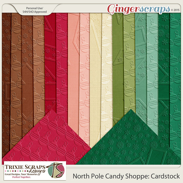North Pole Candy Shoppe Cardstock by Trixie Scraps Designs