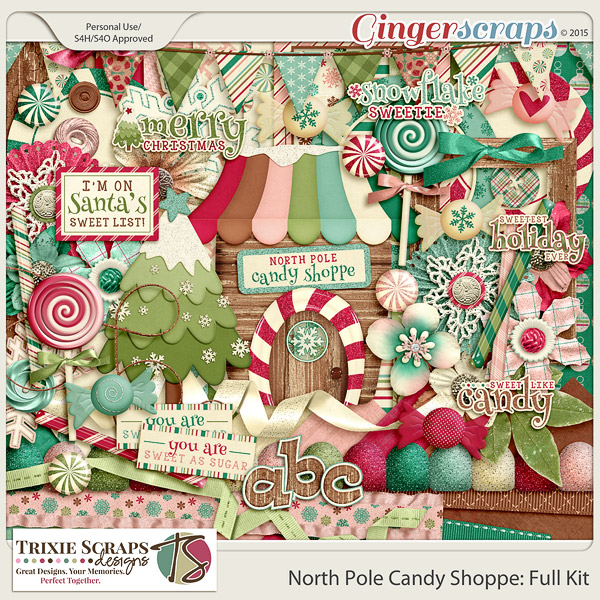 North Pole Candy Shoppe Full Kit by Trixie Scraps Designs