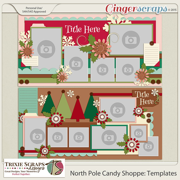 North Pole Candy Shoppe Templates by Trixie Scraps Designs