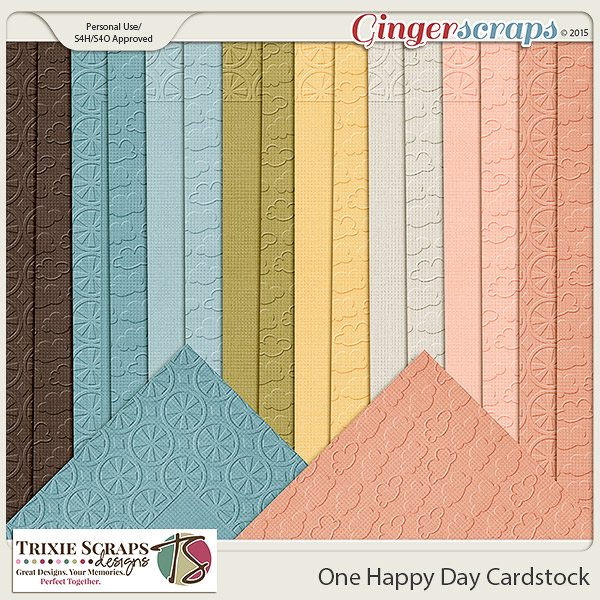 One Happy Day Cardstock by Trixie Scraps Designs