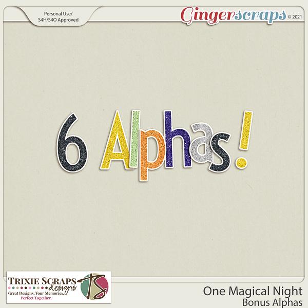 One Magical Night Bonus Alphas by Trixie Scraps Designs