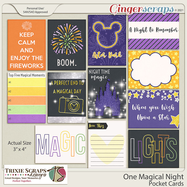 One Magical Night Pocket Cards by Trixie Scraps Designs