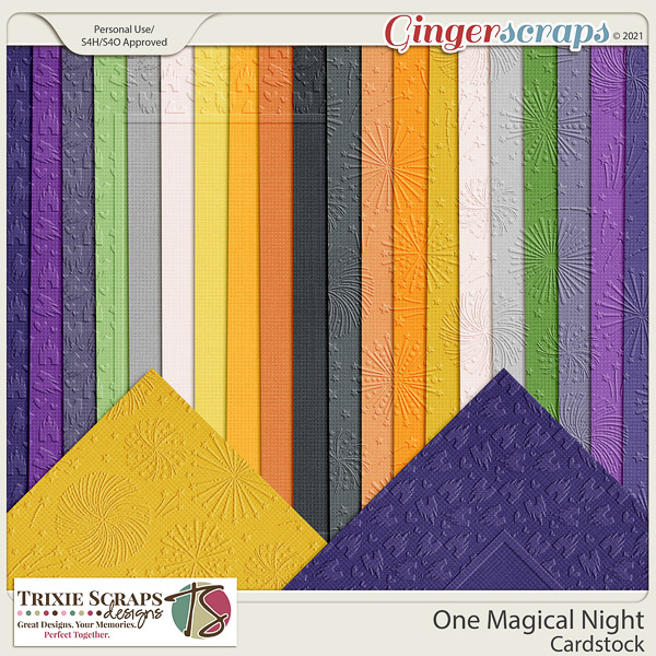 One Magical Night Cardstock by Trixie Scraps Designs