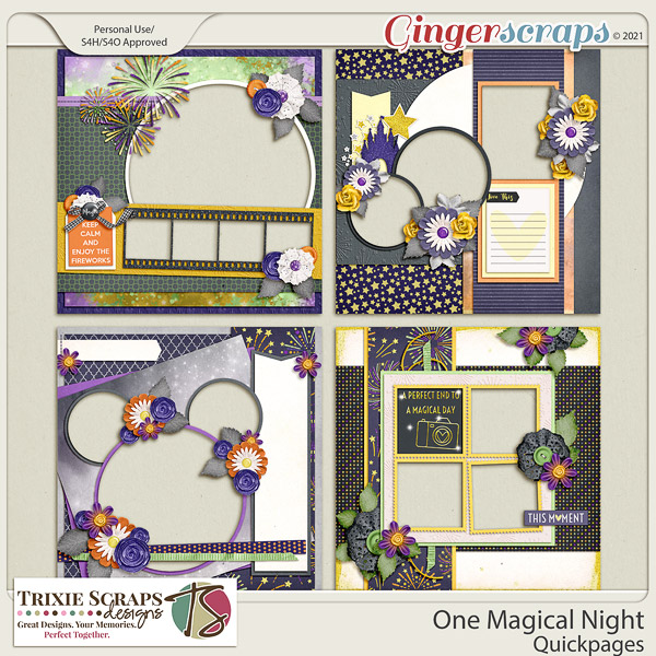 One Magical Night Quickpages by Trixie Scraps Designs