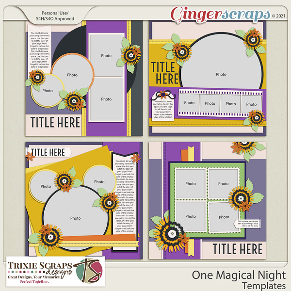 One Magical Night Template Pack by Trixie Scraps Designs