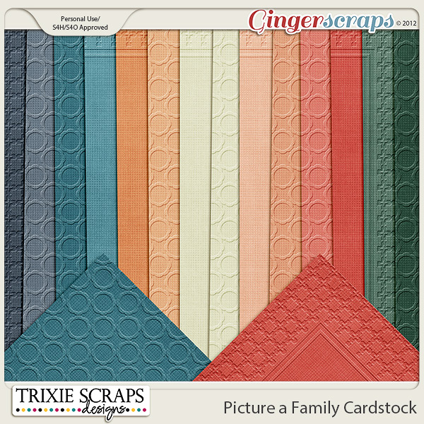 Picture a Family Cardstock by Trixie Scraps Designs