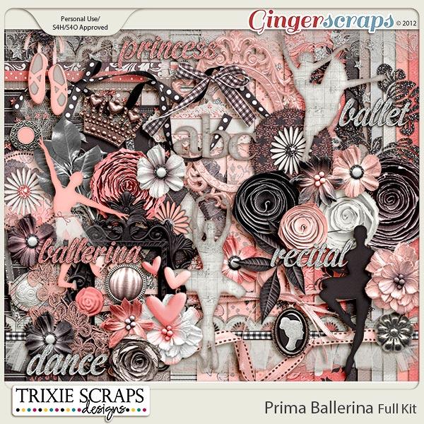 Prima Ballerina Full Kit by Trixie Scraps Designs