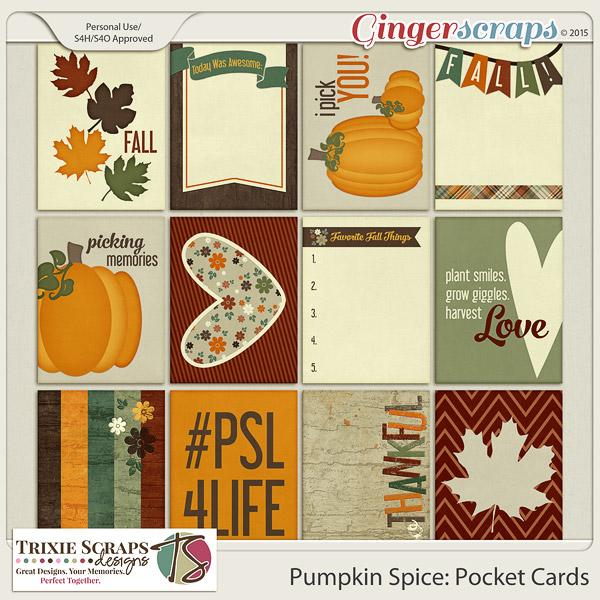 Pumpkin Spice Pocket Cards by Trixie Scraps Designs