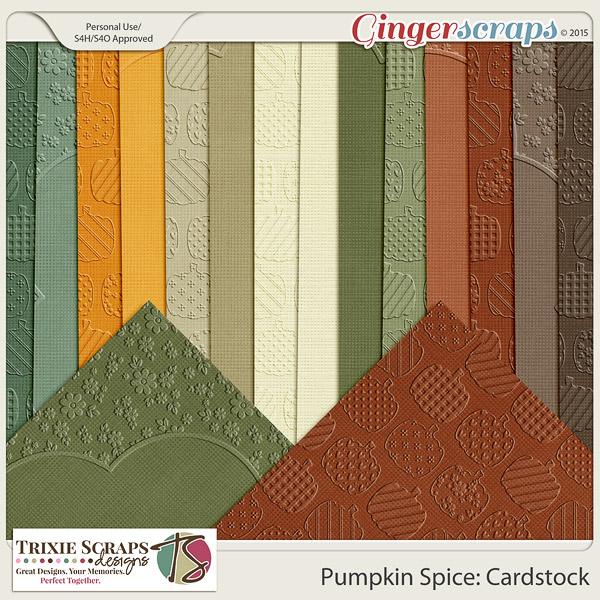 Pumpkin Spice Cardstock by Trixie Scraps Designs