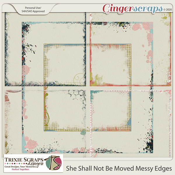 She Shall Not Be Moved Messy Edges by Trixie Scraps Designs