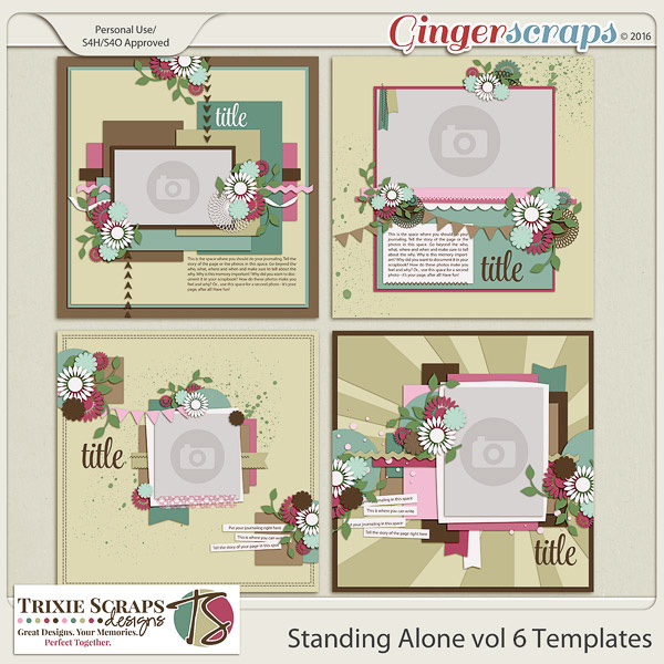Standing Alone vol 6 Template Pack by Trixie Scraps Designs
