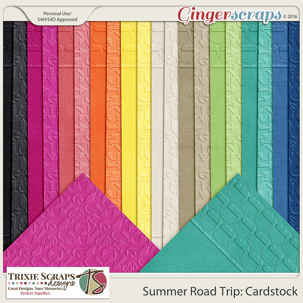 Summer Road Trip Cardstock by Trixie Scraps Designs