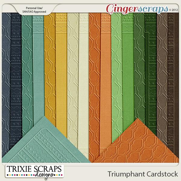 Triumphant Cardstock by Trixie Scraps Designs
