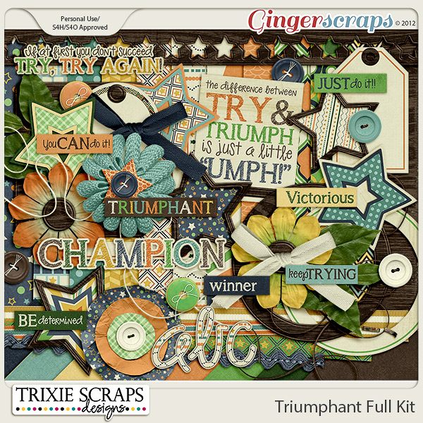 Triumphant Full Kit by Trixie Scraps Designs