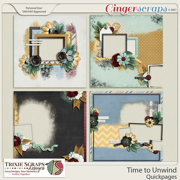 Time to Unwind Quickpages by Trixie Scraps Designs