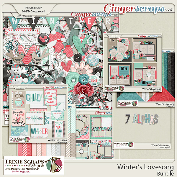 Winter's Lovesong Value Bundle by Trixie Scraps Designs