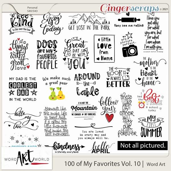 100 of My Favorites Vol 10 Word Art