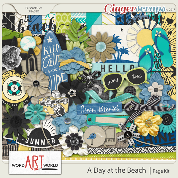 A Day at the Beach Page Kit