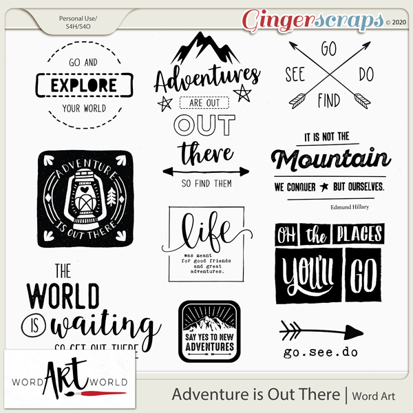 Adventure is Out There Word Art