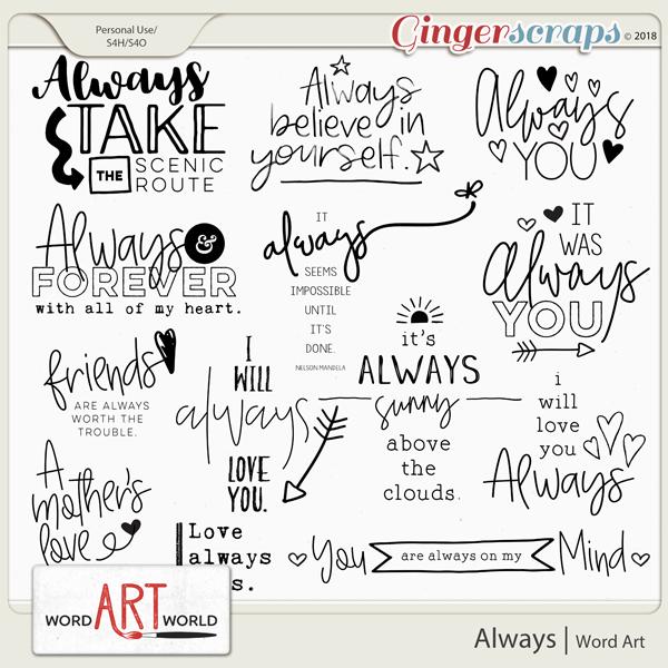 Always Word Art