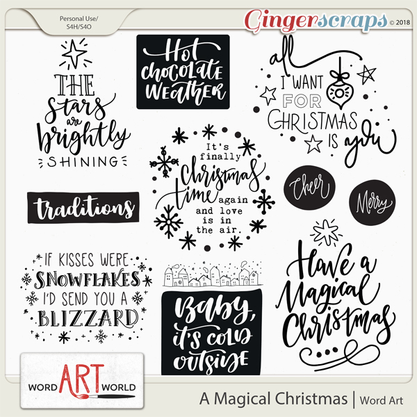A Magical Christmas Word Art
