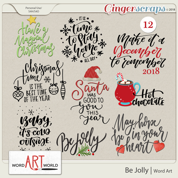 Be Jolly Word Art