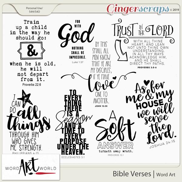 Bible Verses Word Art
