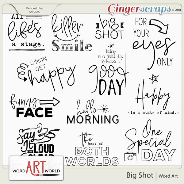 Big Shot Word Art Pack