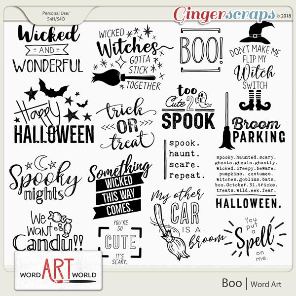 Boo Word Art created by Word Art World