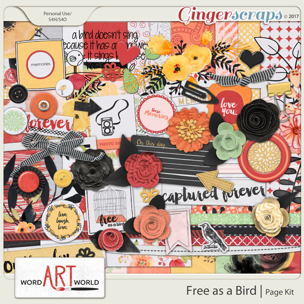 Free as a Bird Page Kit