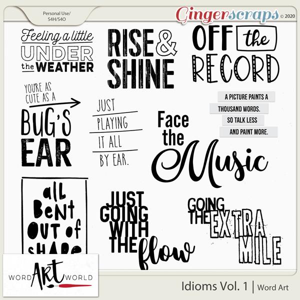 Idioms Vol. 1 Word Art