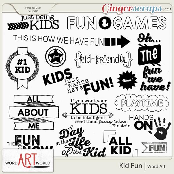 Kid Fun Word Art