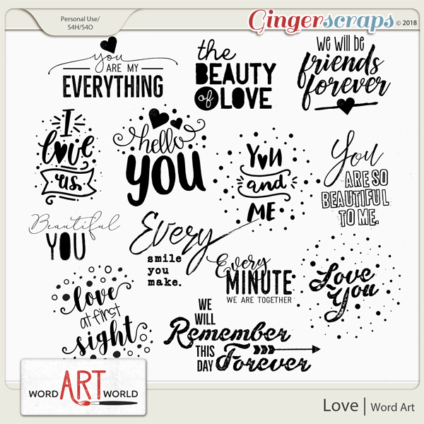 Love Word Art