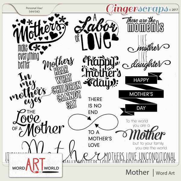 Mother Word Art