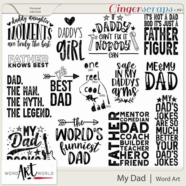My Dad Word Art