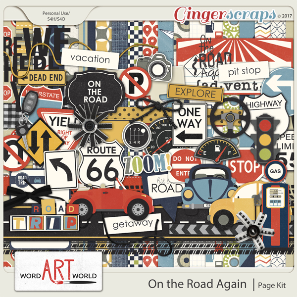 On the Road Again Page Kit