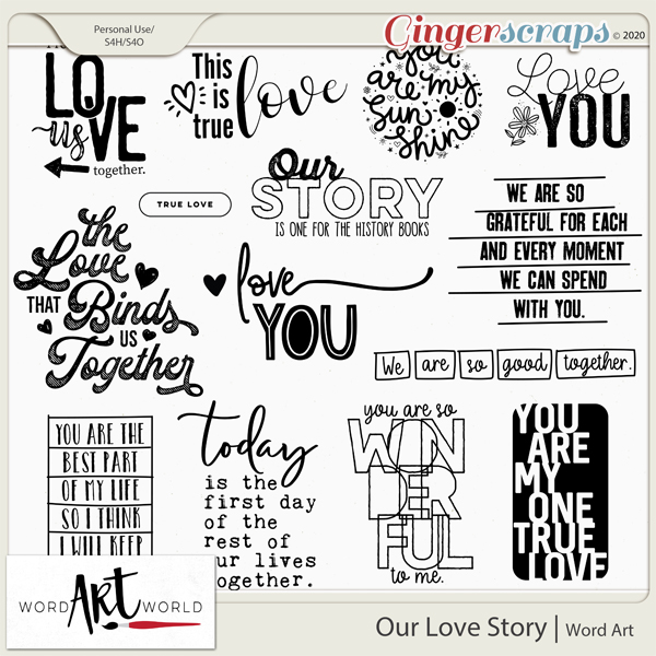 Our Love Story Word Art