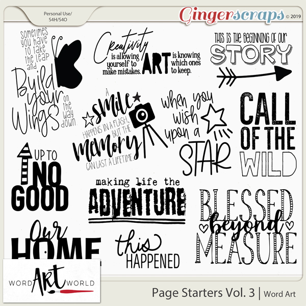 Page Starters Vol. 3 Word Art