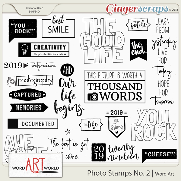 Photo Stamps No. 2 Word Art