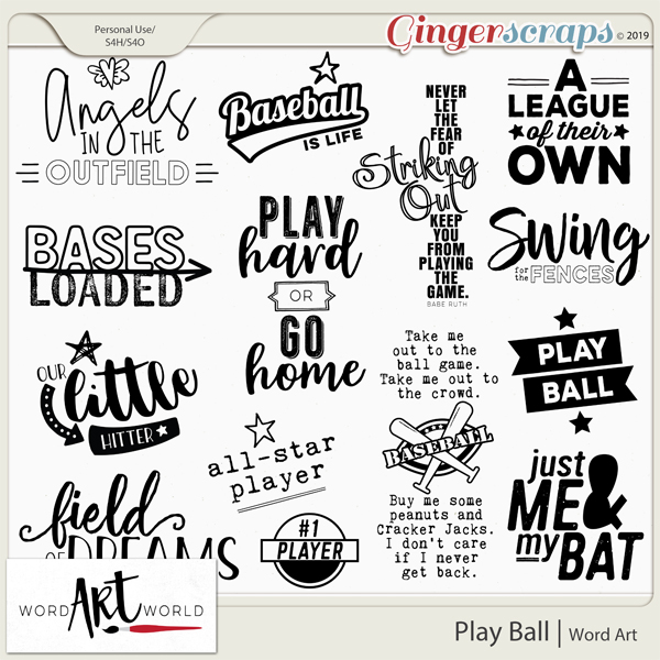 Play Ball Word Art