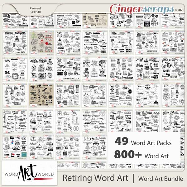 Retiring Word Art Bundle