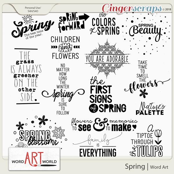 Spring Word Art